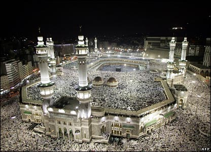 Mosque at Mecca and Prophet's Mosque at Medina
