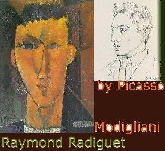 Raymond Radiguet by Picasso and Modigliani