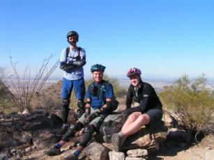 Three moutainbikers from the U.K