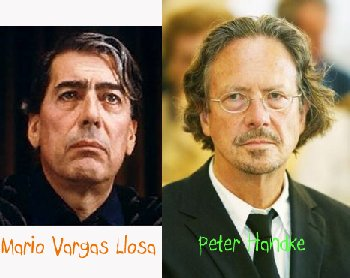 Mario Vargas Llosa and Peter Handke