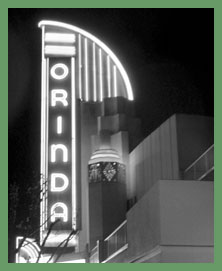 Orinda Theater Art Deco Neon