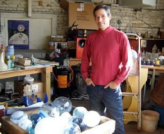 Robert Gardner at his studio