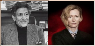 Edward Said and Tilda Swinton