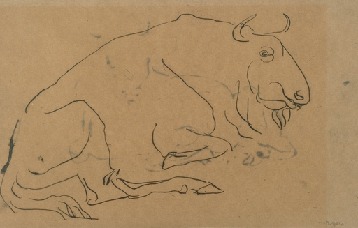Vitro nasu blog archive savage messiah savage messiah 15049wbison sketch of a bison henri gaudier brzeska fandeluxe Images