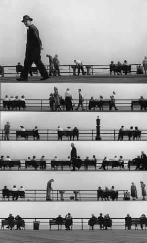 Boardwalk Sheet-music Montage, Coney Island, 1950