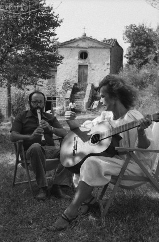 Umberto Eco and His Wife