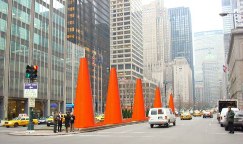 1aDennis Oppenheim_Cones on Park Ave