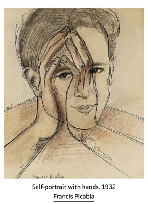 Picabia_Self-portrait_with_hands__1932