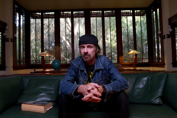 Author TC Boyle at his home in Montecito, CA.