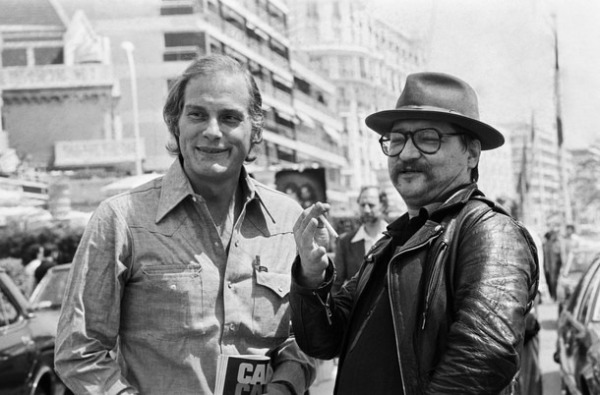 French producer Barbet Schroeder (L) and